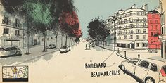 around the world in 80 days street view sketches designboom Around The World In 80 Days, Around The Worlds, Maps Street View, Book Illustration, Illustrations, Lonely Planet, Travel Around, Budapest, Planets