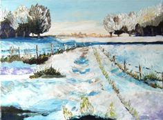 Blog de knock-art :mes peintures à l'huile, paysage de neige 4