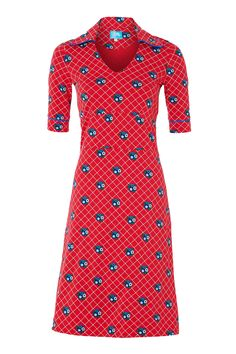 Tante betsy Dress Collar Red