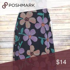 LuLaRoe Azure New with tags, slinky, printed LuLaRoe Azure skirt. No trades but open to reasonable offers! LuLaRoe Skirts