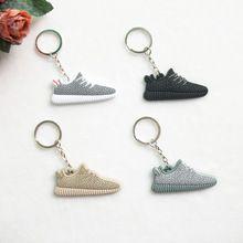 7440d12bf Cute Silicone Yeezy 350 Boost Key Chain Sneaker Keychain Kids Key Rings Key  Holder Llaveros Chaveiro Porte Clef