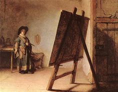 Artist in his Studio - Rembrandt  - Completion Date: 1626