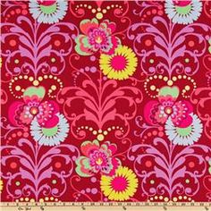 Amy Butler Love Paradise Garden Wine- this is the fabric in the Simplicity bag.  It has lots of pink in it ... don't know if that matters.