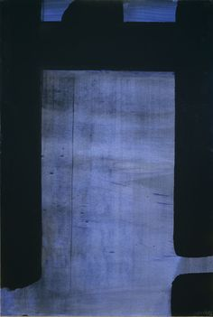 From ARS/Art Resource, Pierre Soulages, Untitled (1977), Vinyl paint on cardboard, 109 × 73 cm
