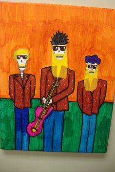 ZZ Top  Artist: Grant T Smith Zz Top, The Monkees, Love S, Top Artists, Rock N Roll, Pop Art, Painting, Day Of The Dead, One Day