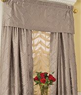 pintucked curtains