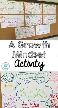 This pin addresses developing guidelines for success. Helping students develop a growth mindset makes them more successful. Having students do an activity like this, where they list vocab/thoughts associated with different cues would be a great way to start a growth mindset conversation.