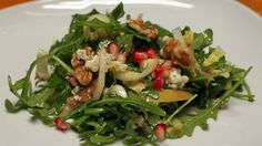 Autumn Apple Salad: Salad of Apple, Endive, Pomegranate, Walnut and Blue Cheese