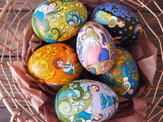 Hand painted easter egg wooden egg decorated russian ornaments hand painted easter egg wooden egg decorated russian ornaments easter gift negle Image collections