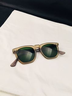 59572f8ea67 Retro Titmus USA Sunglasses Vintage Green Lens Frames Thick And Chunky Free  SHIPPING