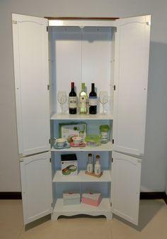 Amazon.com: Homecharm-Intl 23.8x11.8x 72.2-Inch Storage Cabinet,White(HC-004): Kitchen & Dining