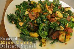 Roasted Miso Curry Delicata Squash