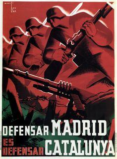 Defense Madrid and Catalonia, 1937 by Marti Bas    Spanish Civil War
