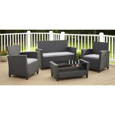 Found it at Wayfair - Feltonville 4 Piece Deep Seating Group with Cushion