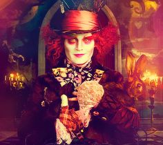 Tim Burton's Alice in Wonderland. The movie wasn't great, but I was so intrigued by the Mad Hatter's makeup and costume!