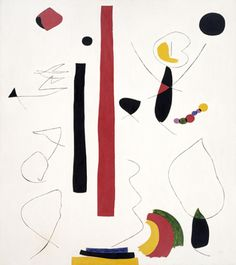 Animated Forms Joan Miró (Spain, Spain, 1935 Paintings Oil on canvas Overall: 78 × 70 in. × cm) David E. Spanish Painters, Spanish Artists, Joan Miro Paintings, Abstract Expressionism, Abstract Art, Community Art, Les Oeuvres, Oil On Canvas, Modern Art