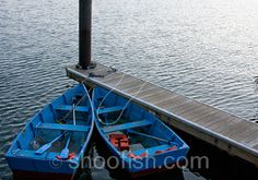 Blue Rowboats Harbor Photograph 85 x 11 by resetreality on Etsy, $21.00