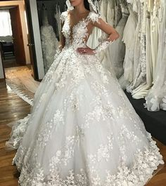 2018 Sheer Neck Luxury Arabic Wedding Dresses Full Lace Appliques Long Sleeves Dubai Wedding Dress Plus Size Bridal Gowns Robe de mariee Arabic Wedding Dresses, Arab Wedding, Western Wedding Dresses, Wedding Dresses Plus Size, Dream Wedding Dresses, Bridal Dresses, Flower Girl Dresses, Wedding Gowns, Tulle Wedding