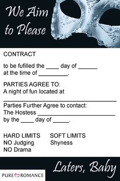 Use this invitation to invite your friends to a 50 Shades of Gray themed party!