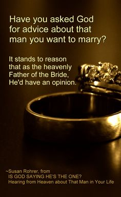 Quote from IS GOD SAYING HE'S THE ONE?: Hearing from Heaven about That Man in Your Life ~ Relationship Advice for Single Christian Women ~ For a free sample click this link: http://www.amazon.com/dp/B007JWCPS2 ~ #singles #ChristianBooks