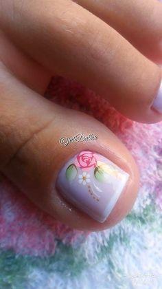 26 Ideias de Unhas Decoradas dos Pés Manicure Y Pedicure, Gorgeous Feet, Creative Nails, Beauty Make Up, Nail Tips, Toe Nails, Beauty Nails, Hair And Nails, Nail Designs