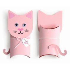 Silhouette Design Store: cat pillow box valentine