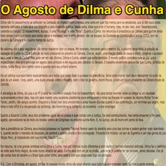 O Agosto de Dilma e Cunha [Eliane Cantanhêde - Estadão] ➤ http://politica.estadao.com.br/noticias/geral,o-agosto-de-dilma-e-cunha,10000061654 ②⓪①⑥ ⓪⑦ ⓪⑨ #Impeachment