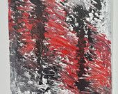Inside you - acrilico su tela 50x70 black rosso