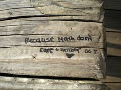 Written on the Naley Bench!