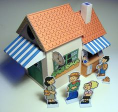 My Little House: Littletown Paper Toy - train station part 2