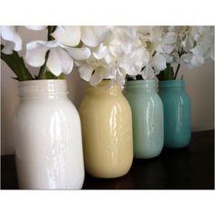 cute painted jars