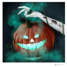 Cg Artist, Pumpkin Carving, Witch, Challenge, Digital, Pumpkin Carvings, Witches, Witch Makeup, Wicked