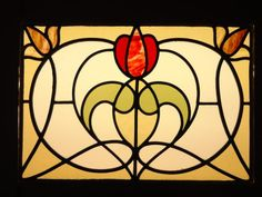 Art nouveau stained glass windows and leaded panels at Holme Valley Stained Glass, Holmfirth, Huddersfield, West Yorkshire Stained Glass Flowers, Stained Glass Designs, Stained Glass Panels, Stained Glass Projects, Stained Glass Patterns, Leaded Glass, Stained Glass Art, Mosaic Glass, Window Glass