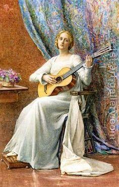 Pre Raphaelite Art: Henry Meynell Rheam...Melody