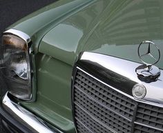 """Classy Golden Era on Instagram: """"This amazing w114 coupé delivered in the beautiful and rare reed green color not only has the looks of a sporty and gentle car, its…"""" Green Colors, Sporty, Classy, Retro, Amazing, Car, Photography, Vintage, Beautiful"""