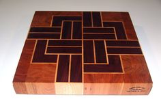 Second End Grain Cutting Board End Grain Cutting Board, Diy Cutting Board, Wood Cutting Boards, Butcher Block Cutting Board, Fine Woodworking, Woodworking Crafts, Kitchen Board, Wood Design, Wood Art