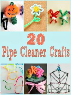 Looking for creative ways to use pipe cleaners? This list of pipe cleaner crafts could keep your kids busy for hours. Let's start off with a few Halloween ideas: Pipe Cleaner Monsters Do Small Things with Love Pipe Cleaner Halloween Finger Puppets Craft Jr Pipe Cleaner Crown Cut Out + Keep Glitter Monsters Crafts by ... Read More about 20 Pipe Cleaner Crafts