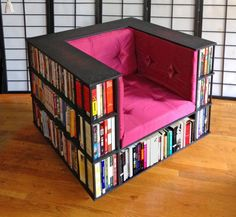 Library Chair: A Reading Char That Doubles as a Bookcase