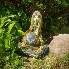 Art Doll - Mother Earth - Gaea Goddess - Gaia Goddess - Goddess - Artistic Doll - Porcelain Doll - OOAK Doll - Mythology - Mystical Doll by Rustiikkitupa on Etsy