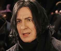 """Alan Rickman as Professor Severus Snape. This is a screen-cap from """"Harry Potter and the Sorcerer's Stone."""" This was during Harry's first Quidditch game ... the one in which Quirrell was jinxing his broom."""