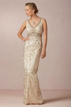 BHLDN-Maxine-Champagne-Old-Hollywood-Gatsby-Sue-Wong-Wedding-Gown-Dress-Size-0