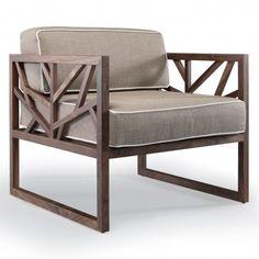 Wewood Tree Walnut Leisure Chair