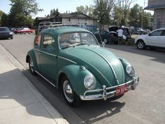 My first car - a 1960 VW Bug - mine didn't have a roof rack though.