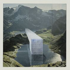 Superstudio, The Continuous Monument: Alpine Lakes, project (Perspective), 1969