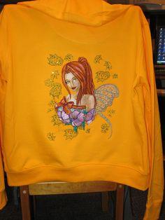 Modern Fairy Autumn Dream machine embroidery design