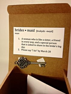 DIY Wedding Bridesmaid Proposal Boxes - Just 2 Sisters