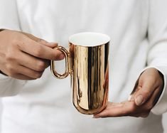 Items similar to OM porcelain cup bone china cup handmade in UE by ENDE on Etsy Porcelain Mugs, Ceramic Clay, Minimal Kitchen, Glass Of Champagne, Ceramics Projects, Mug Designs, Best Coffee, Mug Cup, Bone China