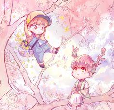 exo, xiuhan, and fanart image