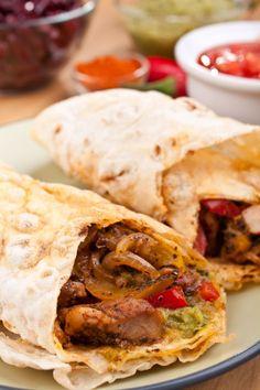 Tortilla s bravčovým mäsom a guacamole