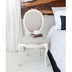 Provencal Linen Dressing Chair by The French Bedroom Company